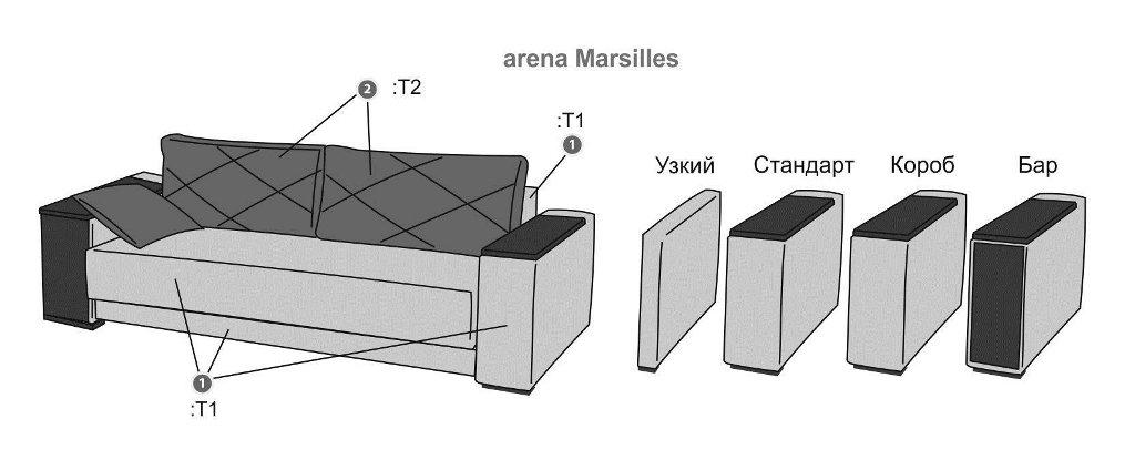 Выкатной диван схема