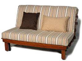 Раскладной  оригинальный  диван-кровать  на механизме аккордеон Фьюжн Вуд Полосатое настроение